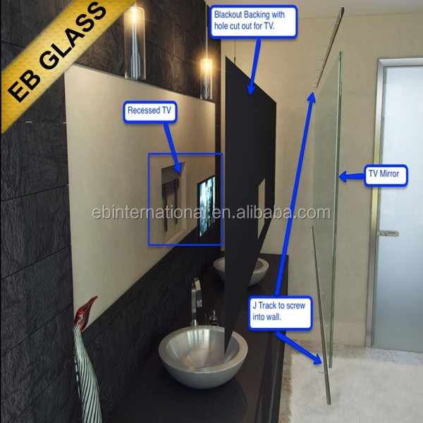 Flat Screen Tv Behind Mirror Eb Glass Brand Suppliers And Manufacturers At Alibaba