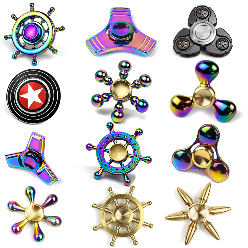 JZJIE Metal 3D Ultra Durable Triangle EDC Hand Fidget Spinner Toy