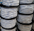 8 mm white color Polypropylene polyester/nylon braided elastic rope with metal hook