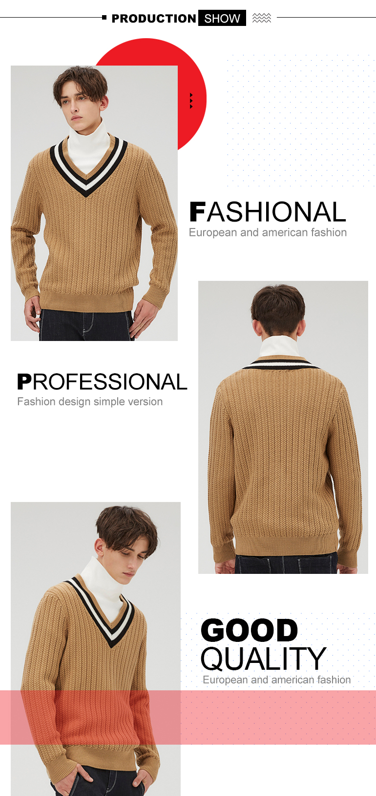 18f2ee49dc1d3 fashion knitting chunky pattern v neck mens cricket sweater for wholesale