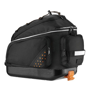 Hotsale Rear Seat Trunk Bag Handbag Bag Pannier for Bicycle Black
