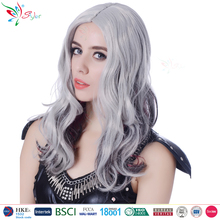 2017 Styler Brand synthetic hair fashion gray curly wig