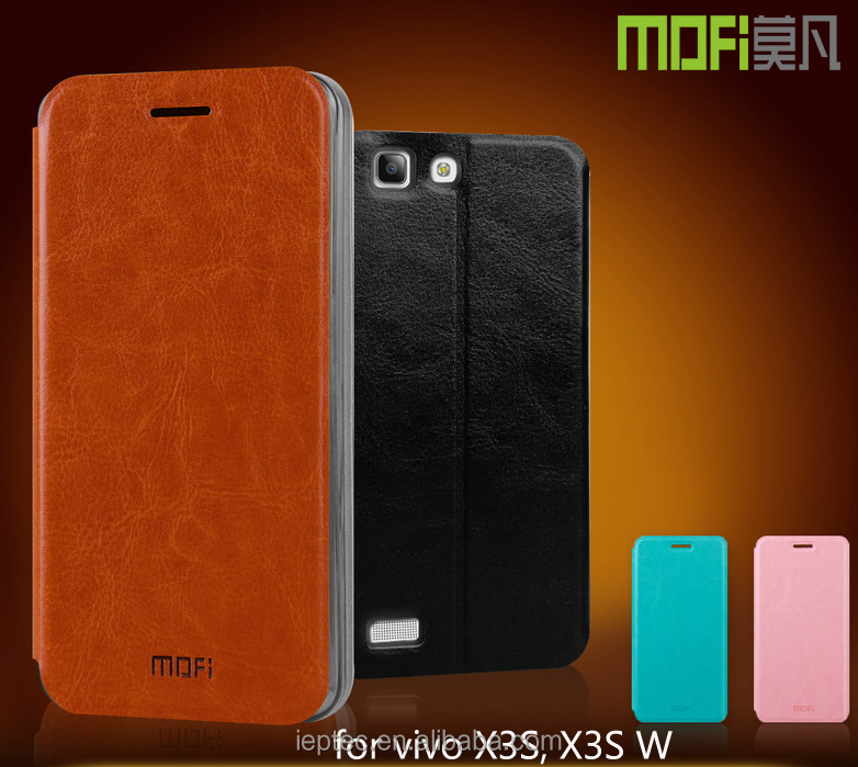 MOFi RUI Series Cell Phone PU Leather Flip Cover for vivo X3S, X3S W, Mobile Phone Case for vivo X3S