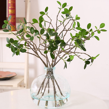 High quality single plastic artificial branches with leaves SLHQ53