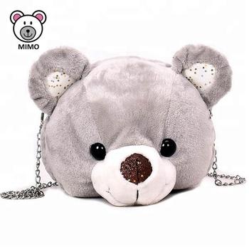 81bde8deda7 Rendah MOQ Kustom Lucu Mewah Mainan Boneka Beruang Kepala Tas Ransel Tas  Sekolah Tas untuk Anak