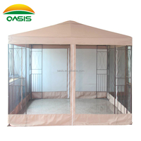 LZ-13315 3X3 the metal gazebo with mosquito net for garden