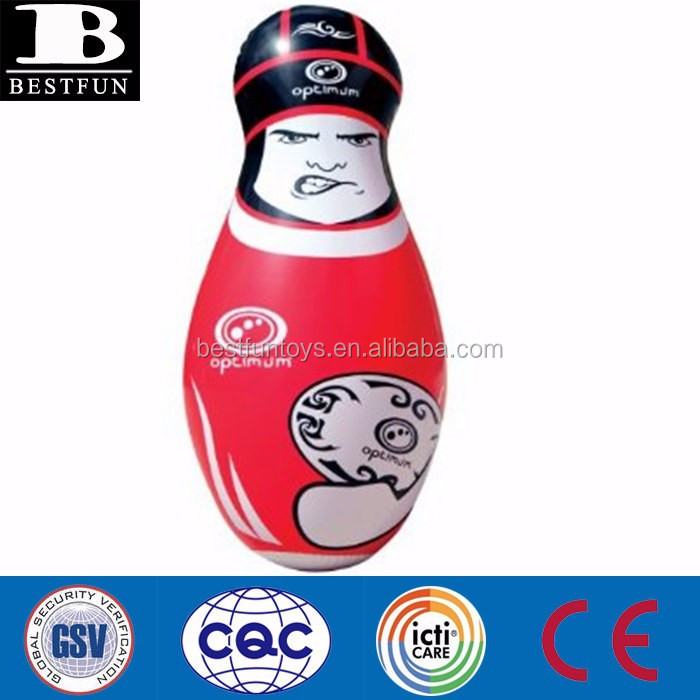 promotional customized children inflatable big hit rugby tackle buddy sports team punching bag