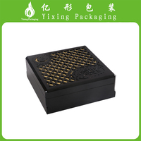 China supplier wholesale Rectangular wooden leather paper gift packaging box