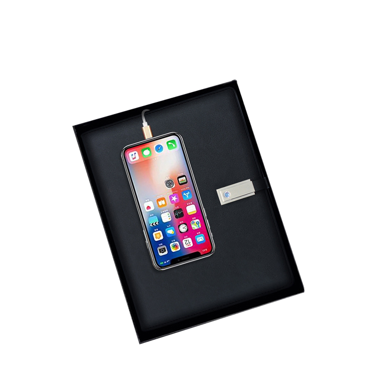 Travel Wireless Charger Usb-C Power Bank Notebook Powerbank Diary Planner Notebook With Power Bank And Usb