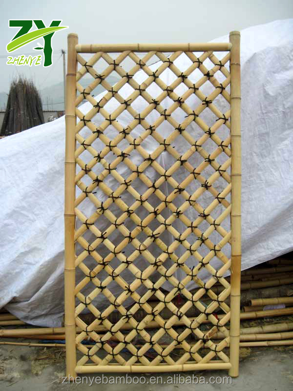 Hot!!! Zy-308 Factory Prices Bamboo Lattice Panel Garden Lattice Panel Grid  Wall Panels - Buy Exterior Wall Panels,Decorative Bamboo Wall Panel,Cheap