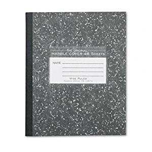 Roaring Spring : Marble Cover Composition Book, Wide Rule, 8-1/2 x 7, 48 Pages -:- Sold as 2 Packs of - 1 - / - Total of 2 Each