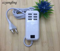 Wholesale high quality 6 ports 4A multi usb wall charger for cellphone,portable home travel adapter for Point reading pen