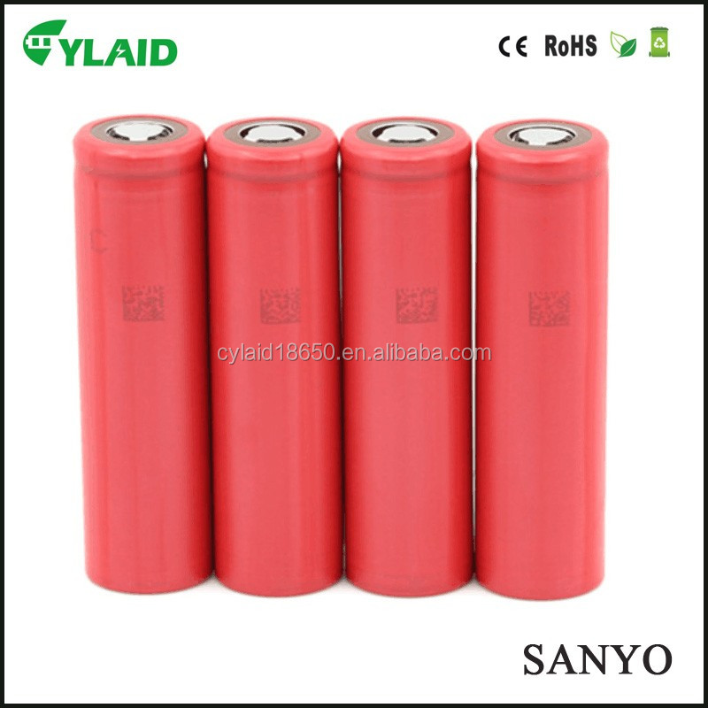 18650 red li ion rechargeable battery 3.7v NCR 18650GA for sanyo 3500mah