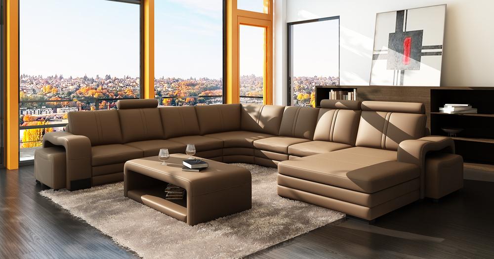 Modernen Wohnzimmer Sofa Set-designs Und U-förmigen Schnitt ...