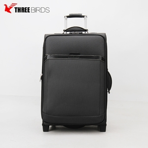 New products wholesale luggage travel suitcase 4 wheels polyester set