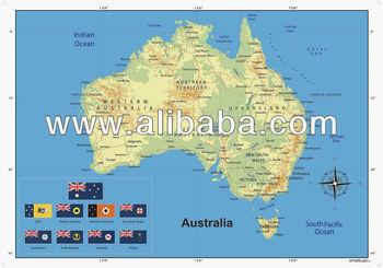 Gran laminado brillante mapa del mundo y australia mapa wall poster gran laminado brillante mapa del mundo y australia mapa wall poster gumiabroncs Choice Image