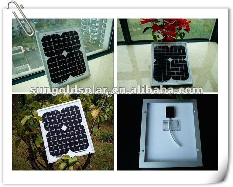 solar panel 5w18v with cables for 12v battery