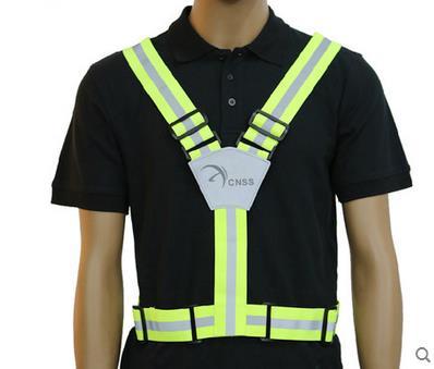 2016 новый использования видимость работает предупреждение жилет открытый для запуска на велосипеде жилет использовать отражающей ремень безопасности куртка SJQ347