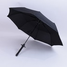 "23""x8k good quality manual open Samurai Sword Rain Umbrella"