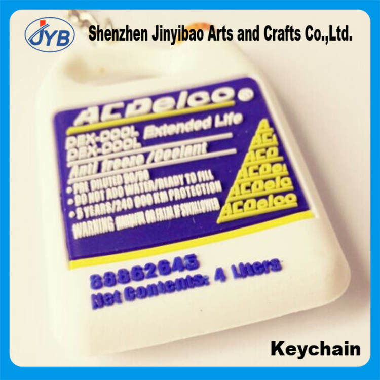 Pvc product custom 2d promotion soft pvc key chain carabiner