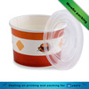take away food paper soup bowl/ paper cup with plastic lid