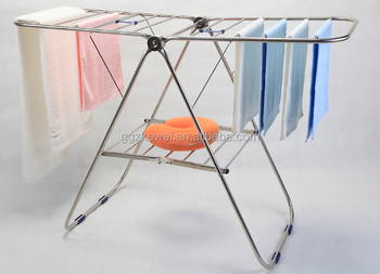 hang detail for wall rack clothes vertical cloth product away telescopic drying