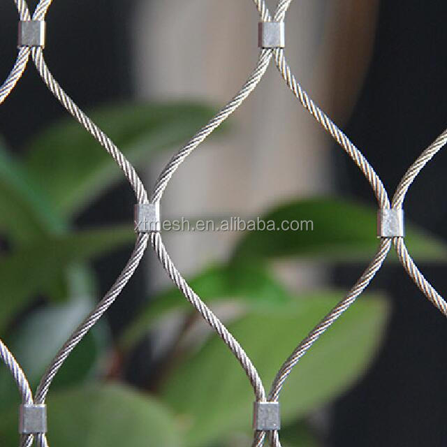 Flexible Inox Cable Net For Security Factory and Steel Security Wire Rope <strong>Mesh</strong> for Protecting <strong>Mesh</strong>