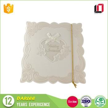 Online Shopping India Wholesale White Luxury Wedding Invitation Card