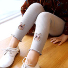 J4606 Latest designs kids girl baby jacquard leggings fancy jacquard legging pants