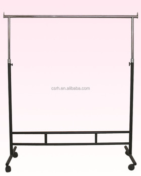 RH-GR-S1 1200*450*1800mm Beweegbare Enkele Rail Kledingstuk Display Rack