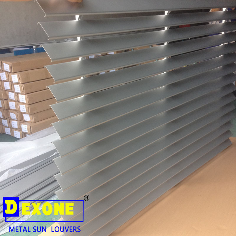 Power Coated Pvdf Aluminum Outdoor Louvers For Window