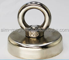 30Lbs N52 Pulling Mounting 14Kg Dia 25x30mm Ndfeb Magnet Pot Hook Salvage