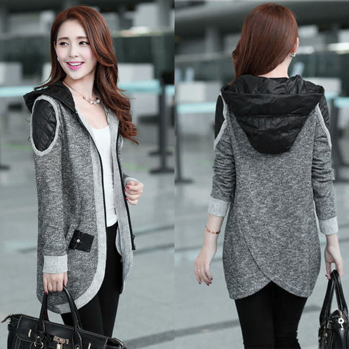 New Ladies Women Long Sleeve Knit Zipper Front Cardigan Top Jacket ...