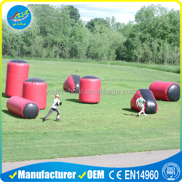 Inflatable paintball, speed ball, tag archery game