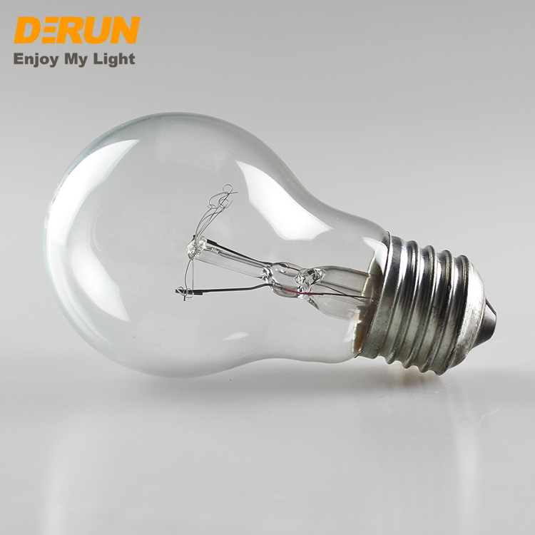 Hot Sales A55 25W 40W 60W 75W 100W 200W 220V 230V 110V E27 B22 clear frosted glass A60 incandescent bulbs light , INC-A BULB