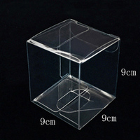 9*9*9CM Fashionable Cheap New Arrival Plastic Cupcake Box For Bakery
