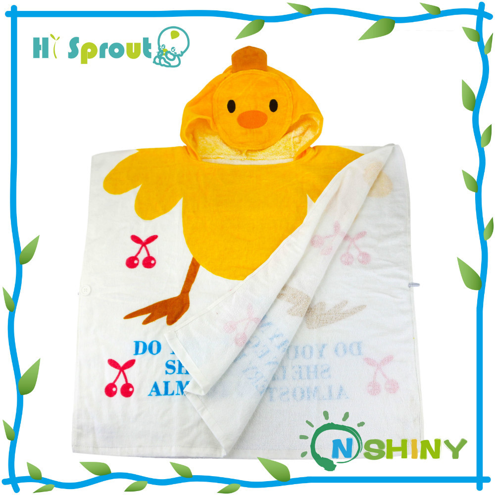 Nice Design Lovely Duck Hooded Towels for Toddlers