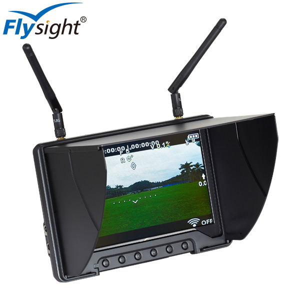 D906 FPV Monitor Flysight 5.8GHz Diversity 21CH RX with CE for DJI F550 Drone