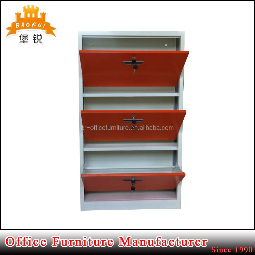 Las-011 China Made Metal Locker Shoe Cabinet Home Used Steel Shoe ...