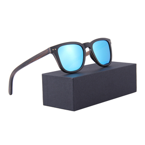 100% handmade natural blue mirror wooden sunglasses polarized