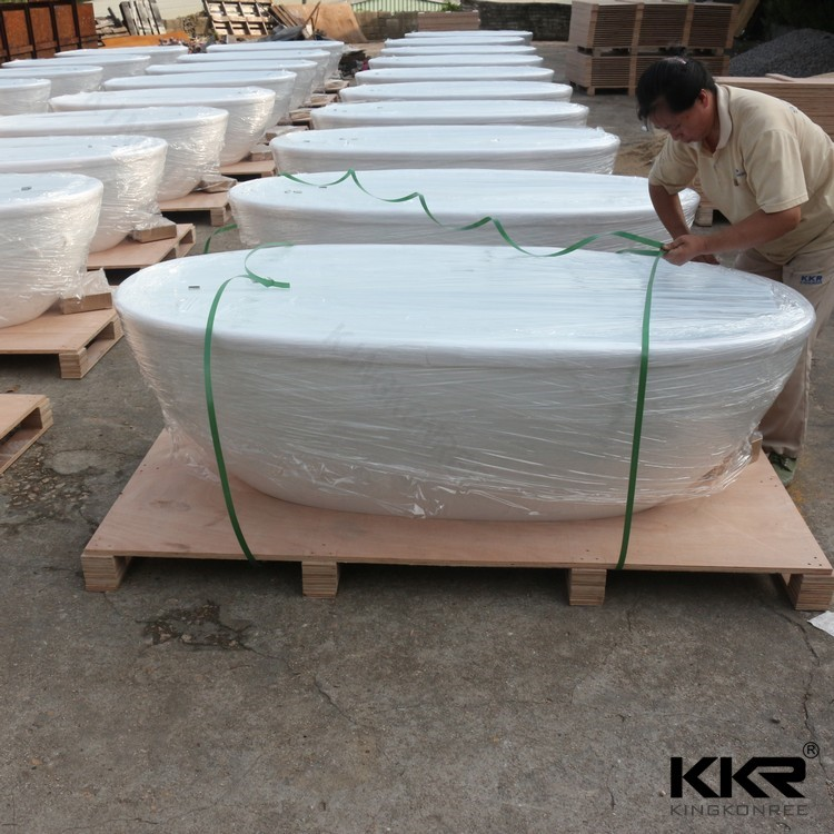 Wholesale artificial stone solid surface whirlpool bathtub waterfall
