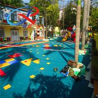 Grid Pattern Interlocking Outdoor Sports Floor