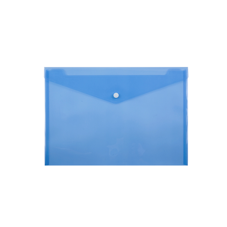 Most Competitive Translucent A4 Plastic Document Bag with Button Closure
