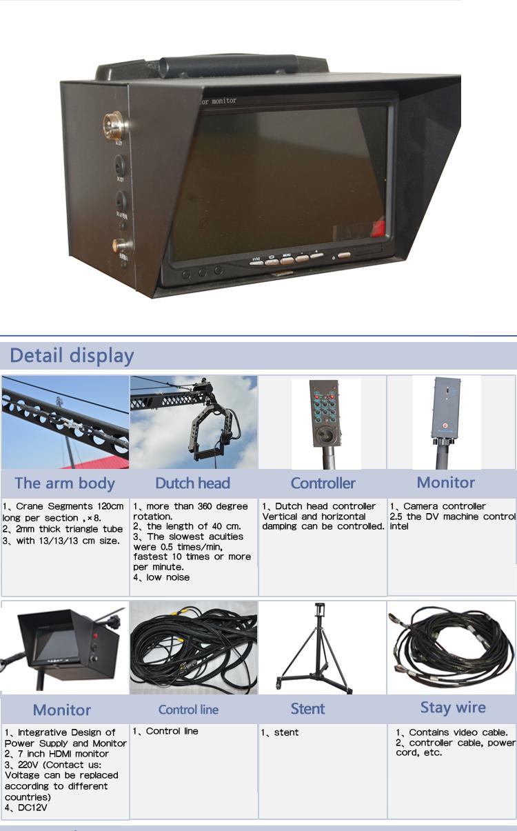 10 metri a controllo elettronico DV bilanciere/jib crane camera/videocamera jib gru