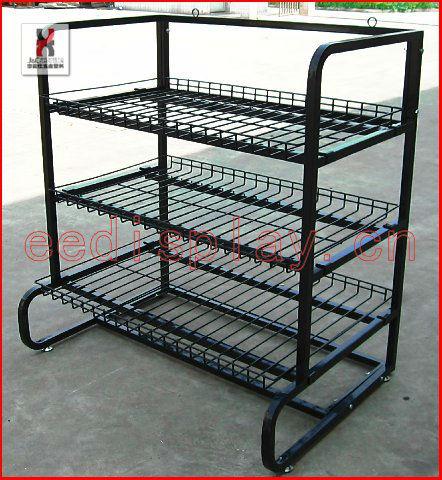 supermarkt f rderung tassen anzeige regal metall display rack mit 3 k rbe shop schalen und. Black Bedroom Furniture Sets. Home Design Ideas