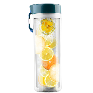 Factory Supply hygienic plastic slim sports infution fruit infusing water bottle