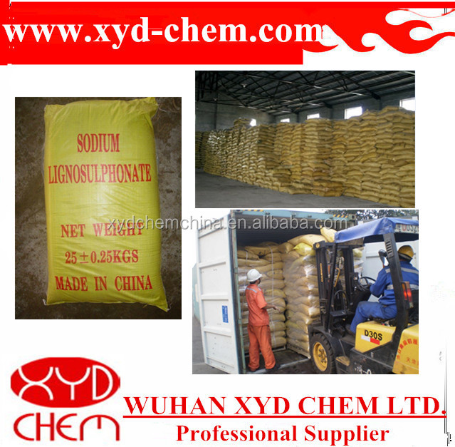 export yellow/brown lignosulphonate sodium water reducer/paper chemicals