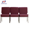 General used Steel leg high quality english movies wood church chair theater seat part XYM-G14