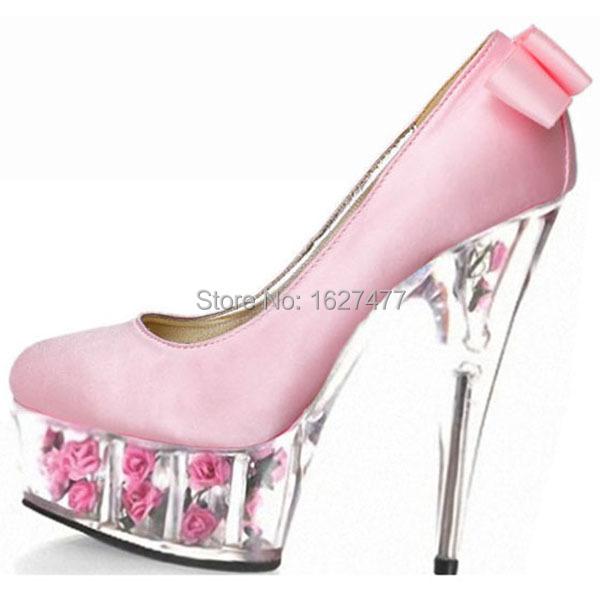 1e380eccd9dd Get Quotations · Glitter bright eye red wedding dress shoes Set foot stage  single shoe 15 cm high heels