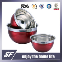 Spray Coating Stainless Steel Mixing Bowl/Salad Bowl